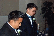 J and Kevin in prayer Photographer: James Wang