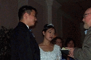 Jenny saying her vows Photographer: James Wang