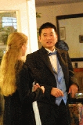 Carl and Christine talking politics. Photographer: Chieh Cheng
