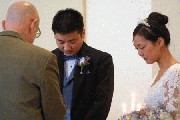 Pastor George, Carl and Jenny in Prayer Photographer: Chieh Cheng