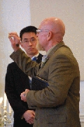Pastor George tells everything about the smallest handcuffs known to man. Photographer: Chieh Cheng